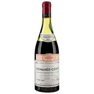 Romanée - Conti. Cosecha 1963. Domaine de la Romanée - Conti.  Vosne - Romanée. Nivel: a 8.5 cm.