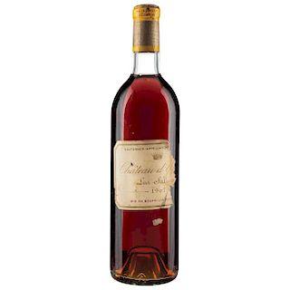 Château d'Yquem. Cosecha 1967. Lur Saluces. Sauternes. Nivel: en el cuello. Calificación: 95/100.