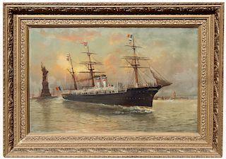 Monumental 19th C. New York Harbor Scene