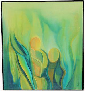 C Murugesan (India, 20th C.) '72 Abstract Painting