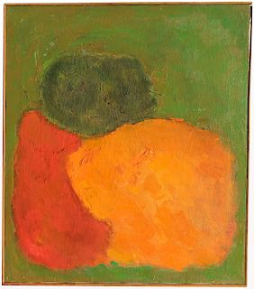 Signed, 1960 Abstract Painting. Indian School