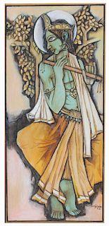 "S. Benjamin (India, 20th C.) ""Krishna"""
