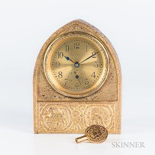 Tiffany Studios Zodiac-pattern Desk Clock
