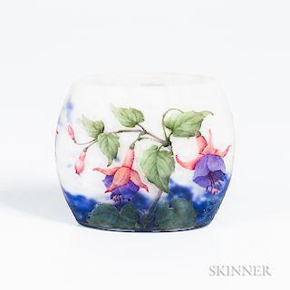 Daum Enameled Floral Vase