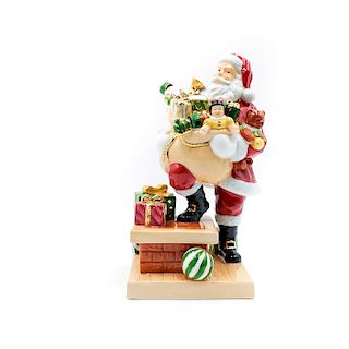 DOULTON FIGURINE, HOLIDAY TRADITIONS ROOFTOP SANTA