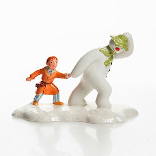 ROYAL DOULTON FIGURINE, THE SNOWMAN AND JAMES
