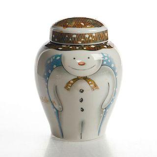 ROYAL DOULTON THE SNOWMAN BY RAYMOND BRIGGS, LIDDED JAR