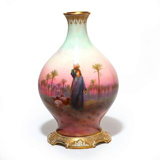 ROYAL DOULTON NEOCLASSICAL VASE BY HARRY ALLEN
