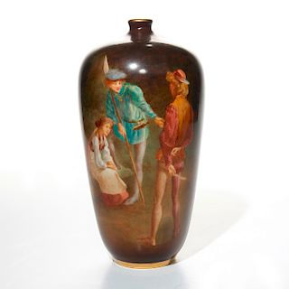 DOULTON LUSCIAN WARE VASE, IN THE FOREST OF ARDEN