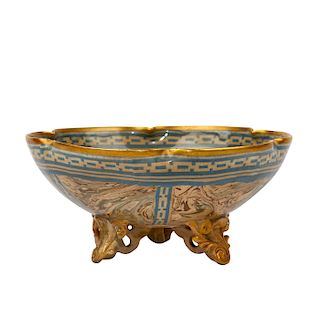 ROYAL DOULTON MARBLED MARQUETERIE WARE DISH