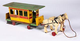 Rich Toys horse drawn trolley