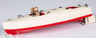 Lionel - Craft tin wind-up speedboat