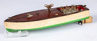 Lionel - Craft tin wind-up no. 44 speedboat