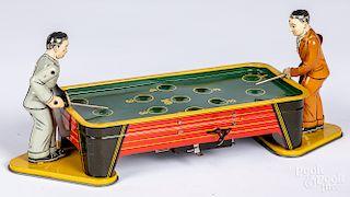 Ranger tin wind-up pool players