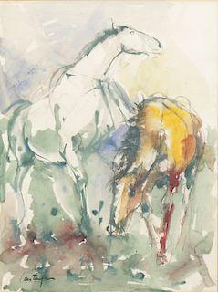 Juan Carlos Castagnino (Argentine, 1908-1972) Watercolor
