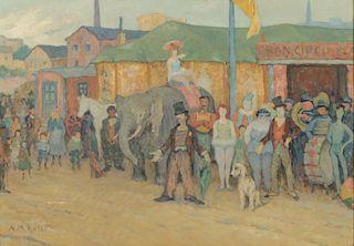 Alberto Maria Rossi (Argentine, 1879-1965) Oil Painting