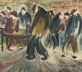Felipe De La Fuente (Argentine, 1912-2000) Oil Painting on Board