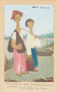 Raul Schurjin (Argentine, 1907-1983) Oil Painting on Paper