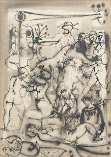 Leopoldo Torres Aguero (Argentine, 1924-1996) Pen & Ink
