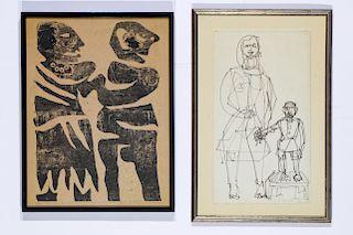 Argentine School (20th Century) Two Prints.