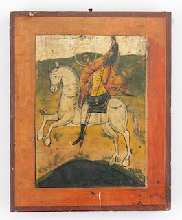 Greek Provincial Icon of St. George, 19th Century