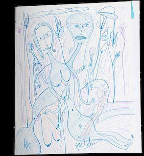 Outsider Art, Jerry Coker, Untitled