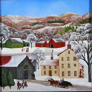Outsider Art, Janice Harding Owens, Christmas Time