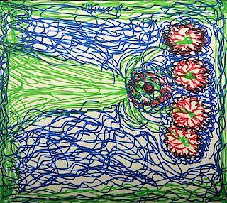 Outsider Art, Mama Johnson, Flowers