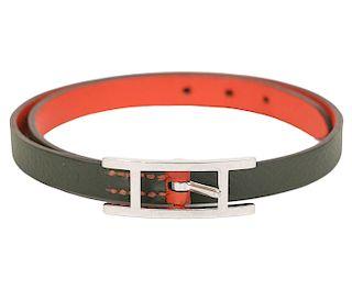 Hermes Behapi Double Tour Reversible Bracelet