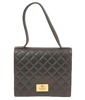 Chanel Vintage 1996 Black Lambskin Handbag