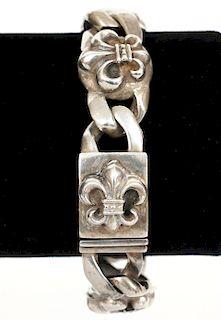 Chrome Hearts Fleur de Lis Sterling Bracelet