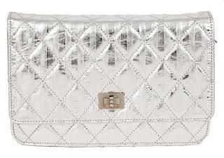 Chanel Metallic Silver WOC Crossbody Bag 2008