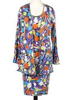 Missoni 3 Piece Silk Sequin Skirt, Tank & Jacket
