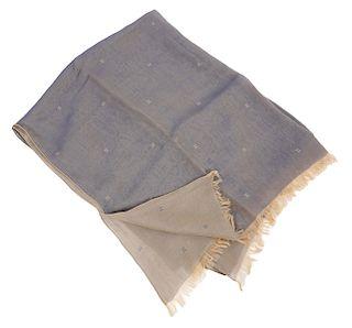 Hermes Two Tone Silk 'H' Shawl Wrap