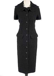 Chanel Silk & Wool Black Dress Size 44
