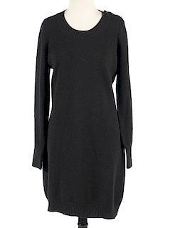 Chanel Black Cashmere Sweater Dress Size 42