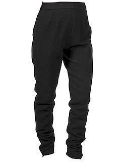 Chanel Black Wool Blend Pants Size 42