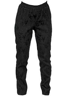 Chanel Black Silk Textured Pants Size 44
