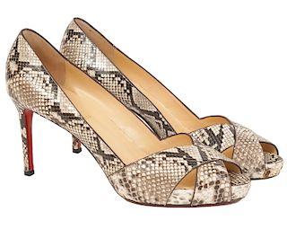 Christian Louboutin Python Heels Size 42