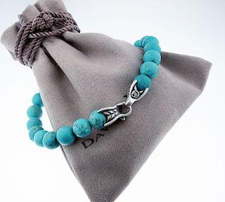 DAVID YURMAN Silver Spiritual Beads Turquoise 8mm