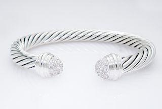 David Yurman Cable Classics Bracelet with Diamonds, 7mm