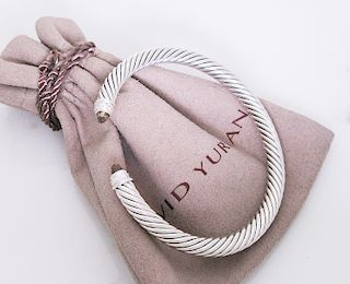 David Yurman 5mm. Classic Cable Diamond Bracelet