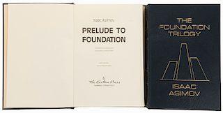 Asimov, Isaac. The Foundation Trilogy/Prelude to Foundation. Norwalk, Connecticut: The Easton Press, 1988. Firmados. Piezas:2.