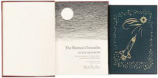 Bradbury, Ray. Leviatán '99 / The Martian Chronicles. Norwalk, Connecticut: The Easton Press, 1989 / 2007. Firmados. Piezas: 2.