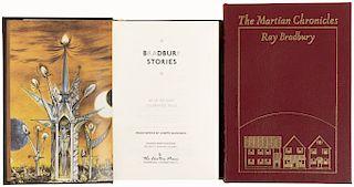 Bradbury, Ray. The Martian Chronicles / Bradbury Stories. Norwalk, Connecticut: The Easton Press, 1989 / 2003. Firmados. Piezas: 2.