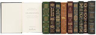 Obras Firmadas por Personalidades Norteamericanas: Moore, Roger / Collins, Judy/ Turner, Ted/ Bush, Barbara. Piezas: 10.