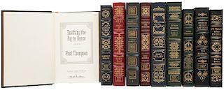 Primeras Ediciones Firmadas por Autor de Easton Press. I'll Mature When I'm Dead/ Lake Wobegon Summer 1956/ Herblock... Piezas: 10.