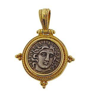 14K Gold Coin Pendant
