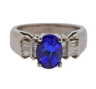 14K Gold Diamond Tanzanite Ring
