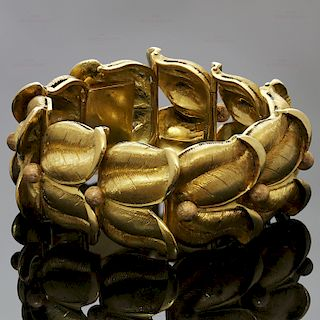 BUCCELLATI Vintage 18k Yellow & Rose Gold Floral Bracelet
